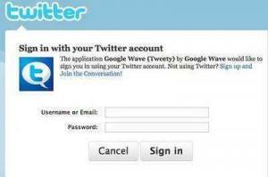 twitter en google wave