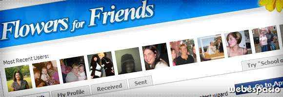 app flowers for friends para facebook