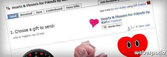 app hearts flowers para facebook