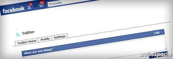 integrar twitter en facebook