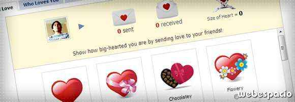 app send love para facebook