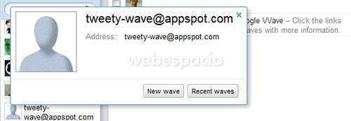 twittear desde google wave