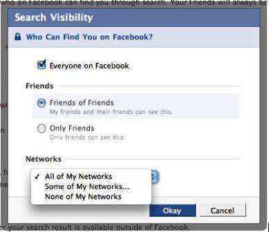 configuracion de privacidad en facebook