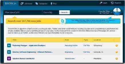 Un eficiente motor de búsqueda de empleo para Twitter