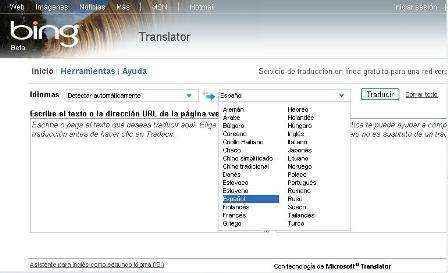 traductor bing
