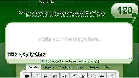 Decora tus tweets con Joy.ly