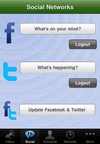 La versión de twitteos para el iPhone