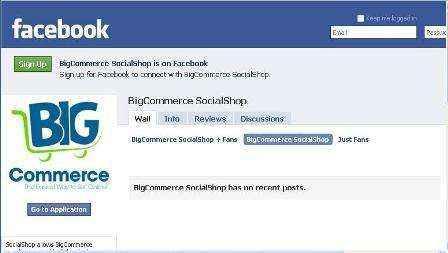 Vitrinas Online en Facebook con BigCommerce