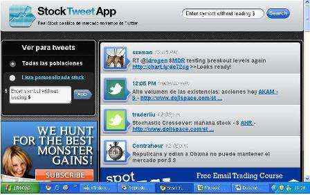 Actualizaciones y consejos del mercado de valores en Twitter