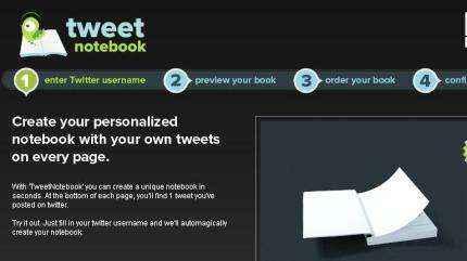 Un libro personalizado de tus tweets