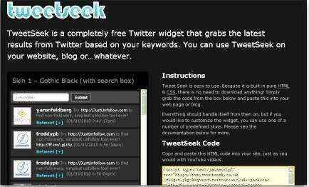 El widget de Twitter que filtra tweets y los muestra en tu Website