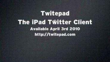 Trae Twitter al iPad