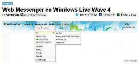 Web Messenger en Windows Live Wave 4
