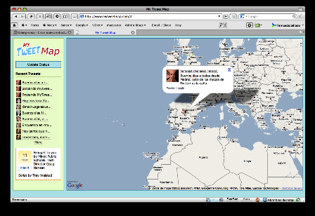 Ten a tus amigos de Twitter en un mapa con MyTweetMap