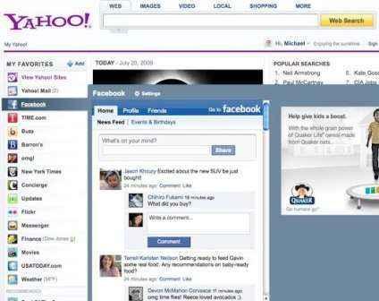 Actualiza tu estado en Facebook desde Yahoo! Correo