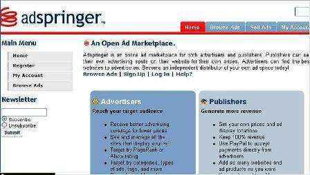 Vende un espacio publicitario en tu sitio Web con AdSpringer.com