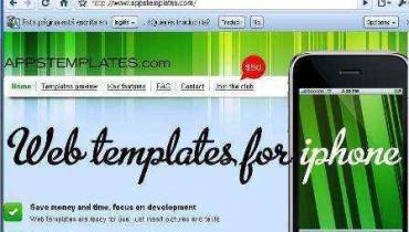 Plantillas para usar en aplicaciones iPhone en AppsTemplates.com