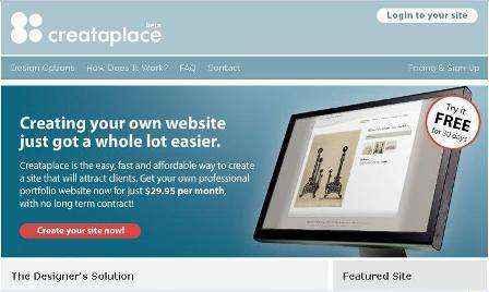 Crea tu portafolio profesional online con Creataplace.com