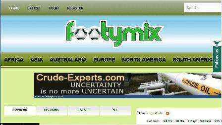 Si eres fanático del fútbol Footymix.com es tu Website