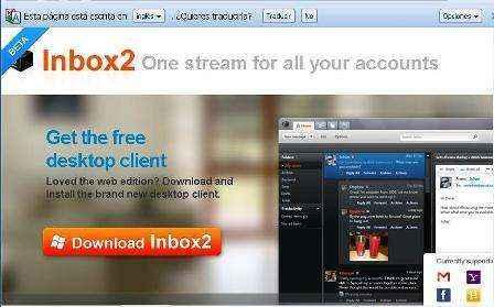 Todos tus Emails y perfiles de redes sociales juntas en Inbox2.com