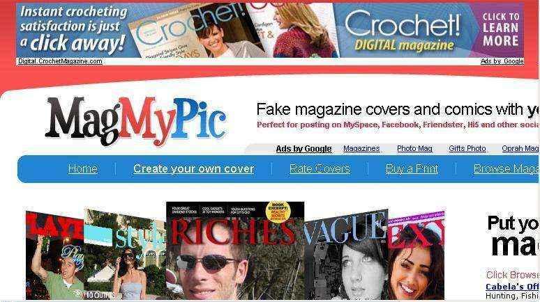 Pon tu cara en la portada de una revista con MagMyPic.com