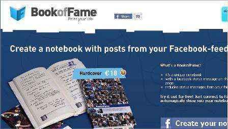Tu cuaderno impreso de momentos Facebook con MyFamebook.net