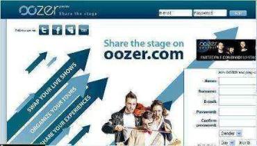 Oozer.com: Una red social para artistas y músicos