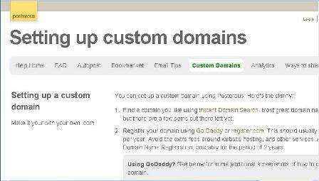 Registra tu dominio personalizado en Posterous