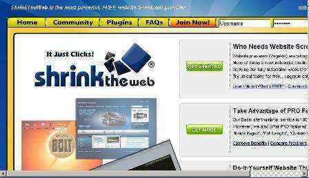 Obtén miniaturas gratuitas de sitios Web con ShrinkTheWeb.com