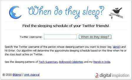 Analiza tus listas de Twitteros con SleepingTime.org