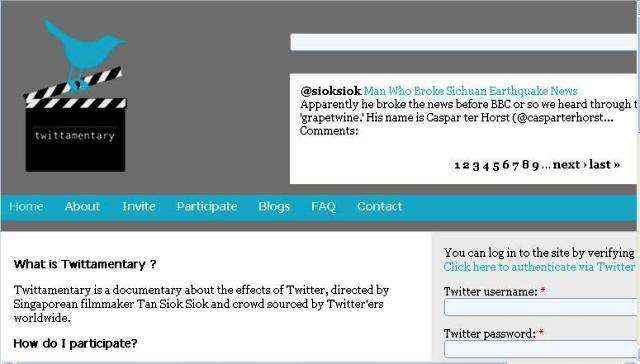 Twittamentary.com: Un documental sobre Twitter