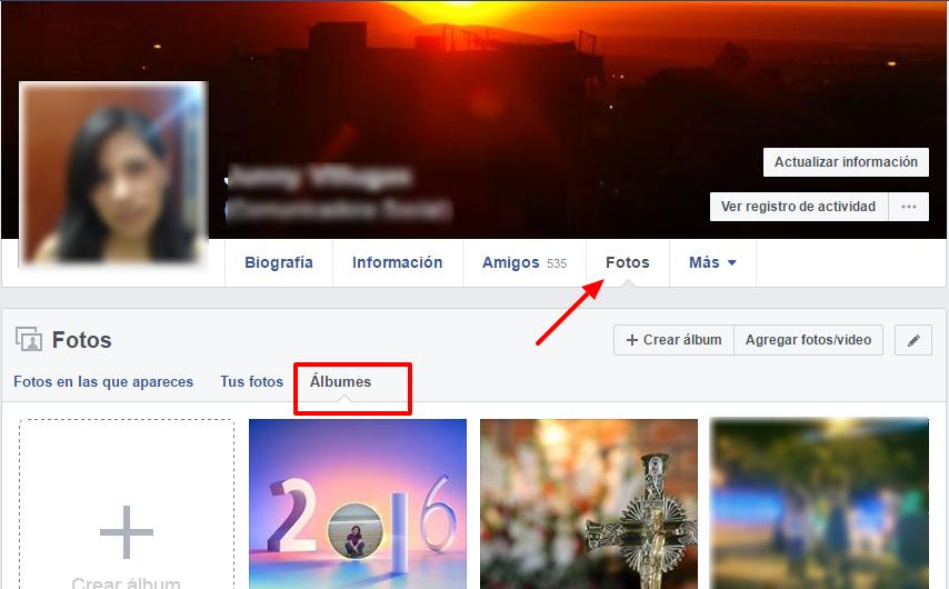 configurar privacidad de albumes de facebook