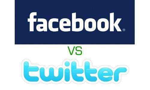 La batalla de los titanes sociales: Facebook vs. Twitter