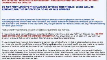 Alertan de nuevo virus a usuarios de FarmTown