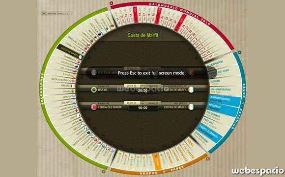 calendario mundial futbol 2010