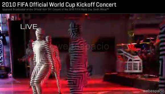 concierto del mundial de futbol