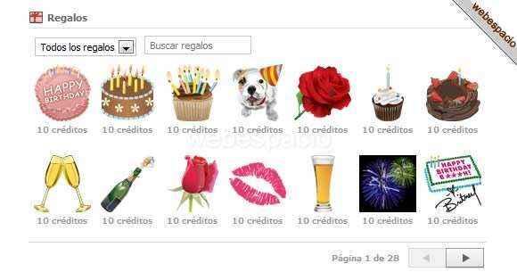 facebook gift shop
