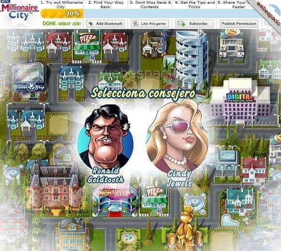 juego millionaire city en facebook