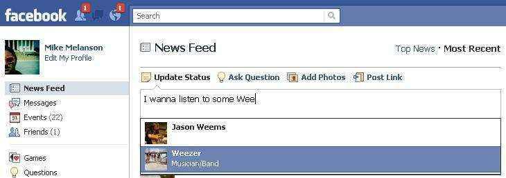 facebook sugerencia