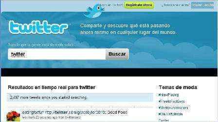 Twitter  página de inicio
