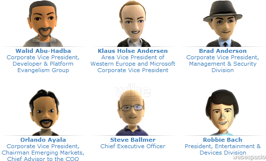 avatar de ejecutivos de microsoft