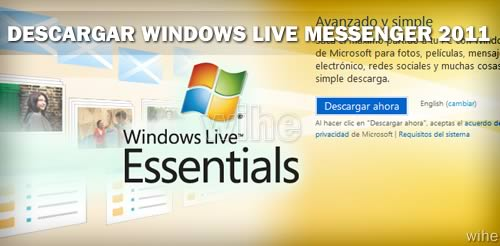 descargar windows live messenger 2011