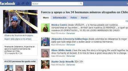 mineros chilenos facebook