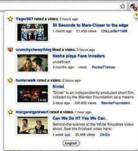 Feed youtube