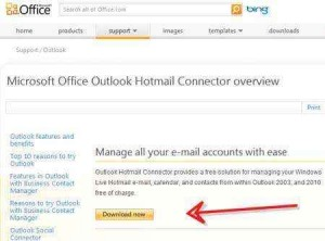 descargar outlook connector