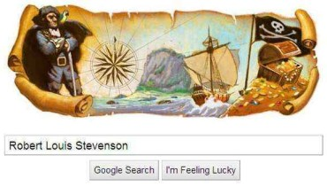 doodle google robert louis stevenson