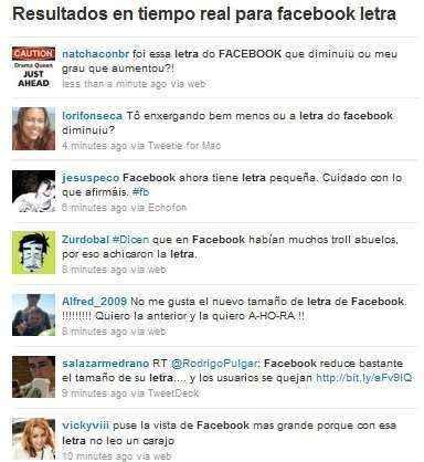 facebook reduce letras