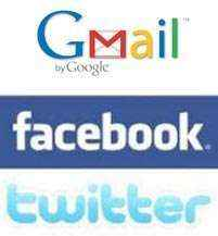 gmail facebook twitter