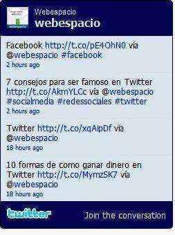 widget perfil de twitter