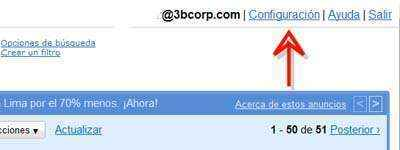 clic configuracion gmail